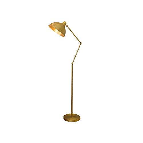 GBYN Lámpara de pie lámpara de pie Minimalista Moderna, lámpara de Moda Creativa Europea de luz Blanca cálida de 5W, lámpara de pie de Sala de Estar-Gold