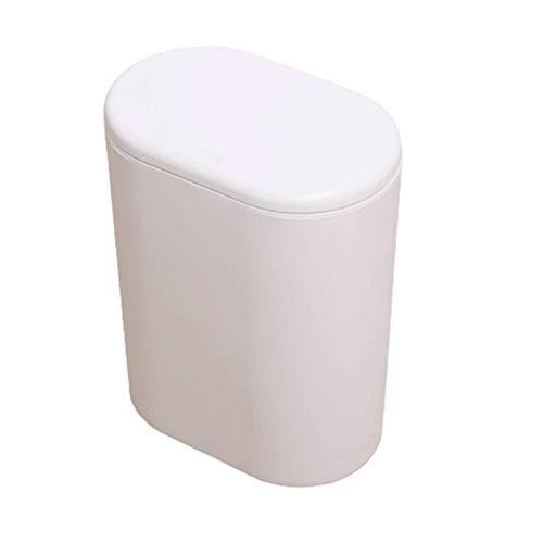 KKsuhe Kunststoff Schmale Küche Mülleimer Can Can Can Can Can Can Müllkasten Toilette Mülleimer Kann Mülleimer Mülleimer (Color : White)