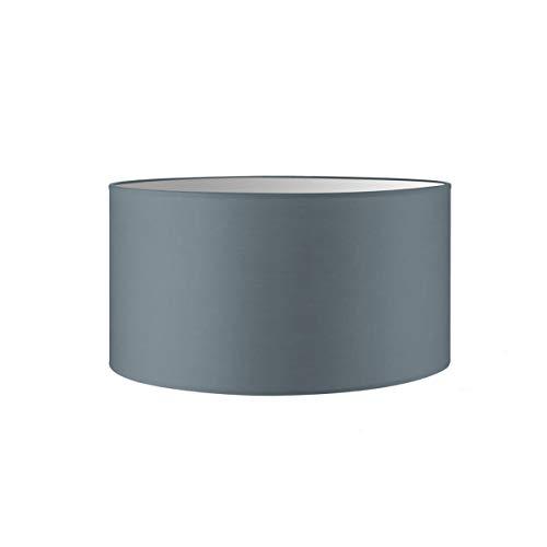Lampenschirm rund | Bling | Stofflampenschirm | Textilschirm | Baumwolleschirm | Für E27 Fassung | Durchmesser 50cm Höhe 25cm | Hell Grau | Für alle Innenraumen IP20 | Ohne Leuchtmittel