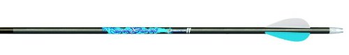 Carbon Express T1254 Predator II Hunting Arrow with 2-Inch Assault Vanes for Novice Shooters, 4560-Sized Blue/Black Shaft