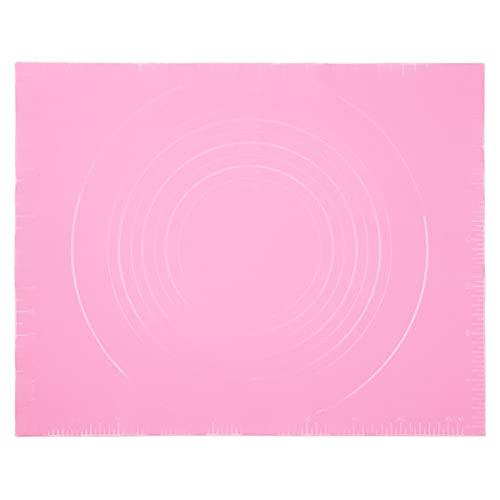 Almohadilla De Amasado De Silicona- Forros Antiadherentes Para Bandejas De Horno Para Galletas, Pasteles, Macarons Y Pizza, Mantel Individual De Mesa,Pink,40 * 50cm