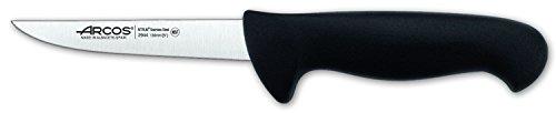 Arcos Serie 2900, Cuchillo Deshuesador, Hoja de Acero Inoxidable Nitrum de 130 mm, Mango inyectado en Polipropileno Color Negro