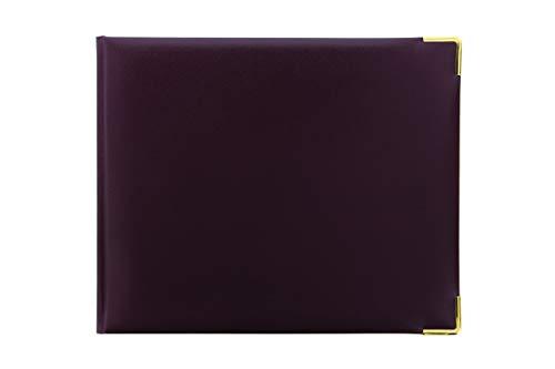 Letts Classic Quarto Landscape - Libro de visitas (4 unidades), color burdeos