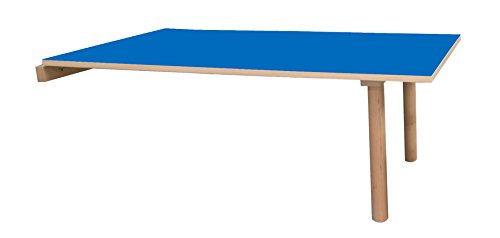 Mobeduc Table Enfant-Swing-120 x 65 cm 120 x 65 cm, Talla 3 Haya y Azul Oscuro