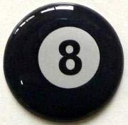 3D Doming Aufkleber rund 8-Ball (4er Set)