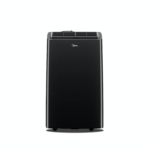 MIDEA MAP14HS1TBL Portable Air Conditioner, For room up to 550 sq ft with heater, Black