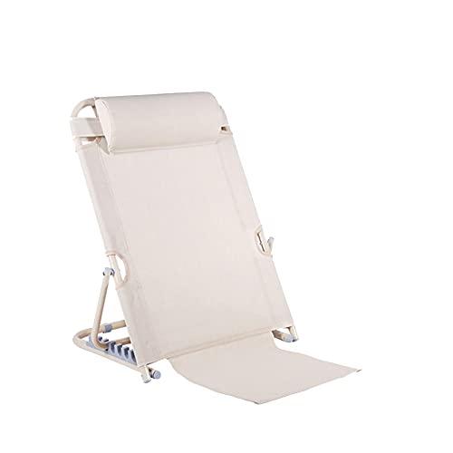 Regolazione a 7 velocità Supporto per la schiena del letto per anziani Schienale pieghevole per lettura Materiale a rete ghiacciato Traspirante e confortevolec ( Color : White , Size : 72*50*35cm )