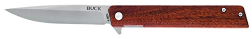 Buck Knives 256 Decatur Folding Ball Bearing Flipper Liner Lock Pocket Knife (Brown)