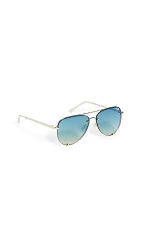 Quay Australië Hoge Sleutel Mini Rimless Womens zonnebril