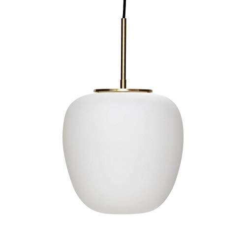 Hübsch Lampe, Glas, weiß/Messing ø30xh28cm, E27