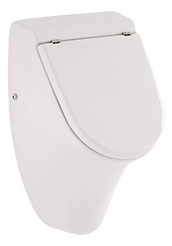 'aquaSu® Urinal Set jaDe | Mit Deckel | Weiß | Inklusive Zubehör | Zulauf und Ablauf hinten