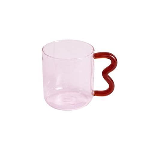 WANZSC Creativo personalizado de cristal de la marca de la oreja taza sin plomo resistente a mano Tazas calor leche vino cerveza tazas regalo de parejas (A)