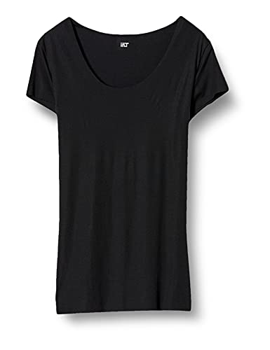 [グンゼ] インナーシャツ YG Tシャツ専用 in.T(インティー) CUT OFFシリーズ クルーネックTシャツ 汗取りパッド付 メンズ ブラック 日本 LL (日本サイズ2L相当)