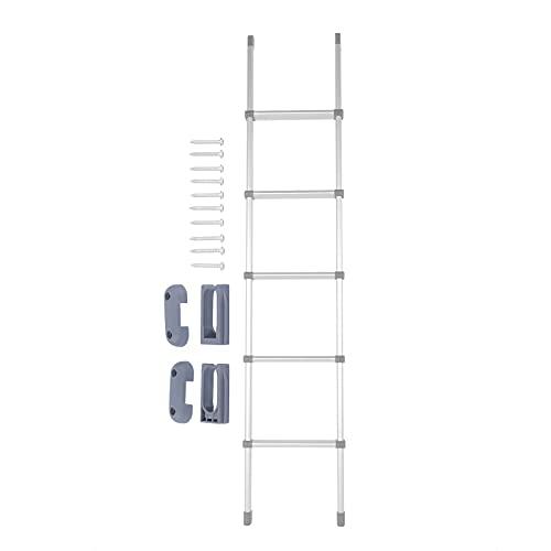Yivibe Escalera para literas, aleación de Aluminio, Resistente, apoyabrazos Inclinados de 15 Grados, Escalera para literas para autocaravanas, Yates, literas para Interiores y Casas rodantes