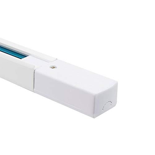 LEDKIA LIGHTING Carril Monofásico Aluminio UltraPower Design para Focos LED 2 Metros Blanco