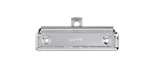 MAUL Bügel-Klemmer, montierbar, Metall, 100 mm Breite, 8 mm Klemmweite, hellsilber, 10 Stück