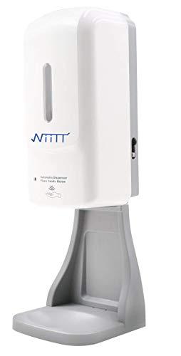 Dispensador automático multifunción de gel hidroalcohólico, jabón y espuma de pared y sobre mesa, 1 litro, con pilas y enchufe eléctrico, sin contacto 3 en 1