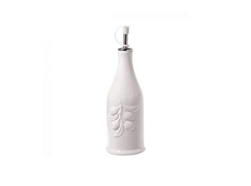 La Porcellana Menage cilíndrico Botella de Aceite, Color Blanco