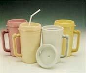 Medegen Bedside Pitcher Mug Cold, 34oz, Rose (Each)