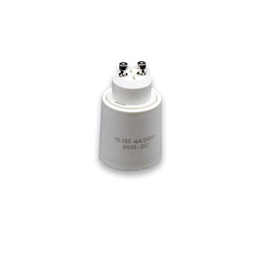 Adaptador de bombillas con casquillo GU10 a E27 (Blanco)