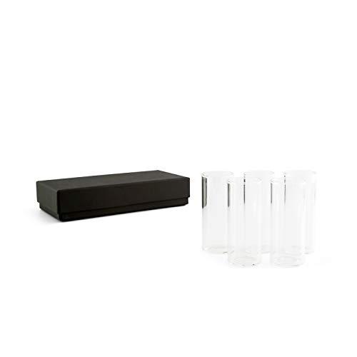 """Klong Glaseinsatz """"CONSTELLA"""" für Teelichthalter - 5 Stück - Ø: 4 cm, H: 10 cm - Minivase - Vase Einzelblume - Skandinavisches Design"""
