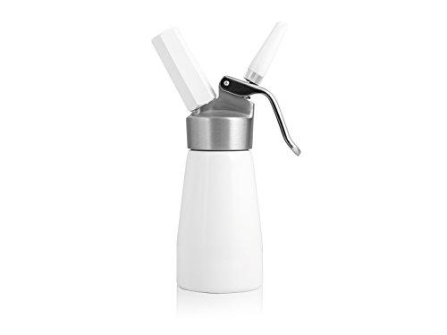 H&H White sifón para Crema, Aluminio, Blanco