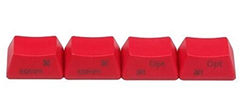 Orignal Hight Profil Keycaps For Option PBT Material DSA MAC Key Cap Profil Red White Grey Black Color (Color : RedsideOEM)