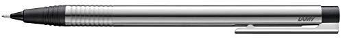 LAMY logo Druckbleistift105–Bleistift aus rostfreiem Edelstahl,rundmattiert,Kunststoffteile in der Farbe Schwarz,matt mit integrierter Clip-Drücker-Einheit–mit 0,7mm Feinstrichmine(LAMY M40)