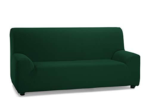 Martina Home Tunez,  Copridivano elastico, Tela (50% poliestere, 45% cotone, 5% elastan), Bottiglia Verde, 3 Posti (180-240 cm larghezza)