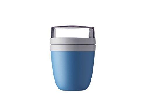 Mepal Lunchpot Ellipse - Aqua – 500 ml praktischer Müslibecher, Joghurtbecher, To go Becher – Geeignet für Tiefkühler, Mikrowelle und Spülmaschine