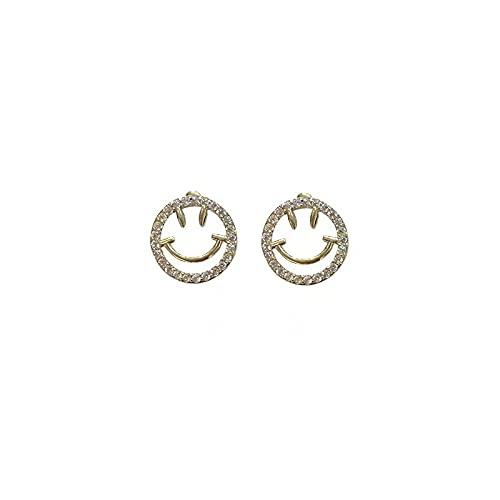 Pendientes Smiley Mujer Set de caritas sonrientes doradas 5 piezas