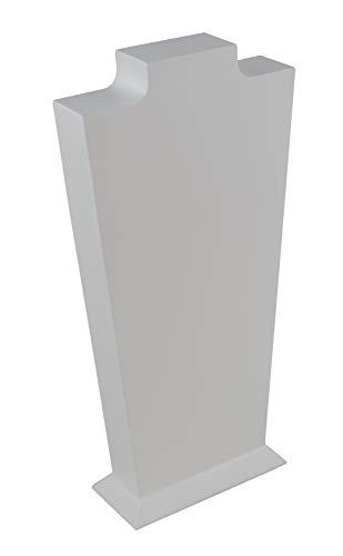 Hout, 27 cm, hoge halsvorm, halsketting, hangerketting, vitrinekast, organizer, sieradenhouder Kleur: wit