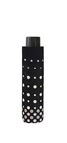 doppler Taschenschirm Fiber Havanna Pearl – Sehr leicht – Praktische Größe – 22 cm – Schwarz