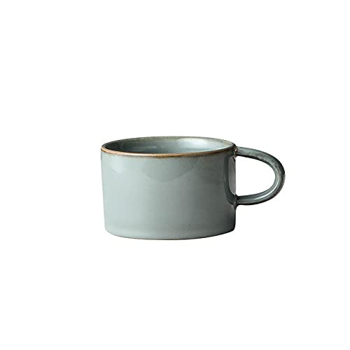 Porcelain Cup Thick Ceramic Coffee Cup for Flat White Milk Coffee Cup Cappuccino Double Espresso Cup (Color : Cement Gray)