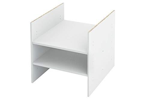 INWONA Kallax Expedit Regal Einsatz mit 2 Fachböden Ablagefach Extra Fach Fachboden Verstellbarer Boden Dokumentenablage Fachteiler für 3 Einzelfächer 33,5 x 33,5 x 38 cm Weiß