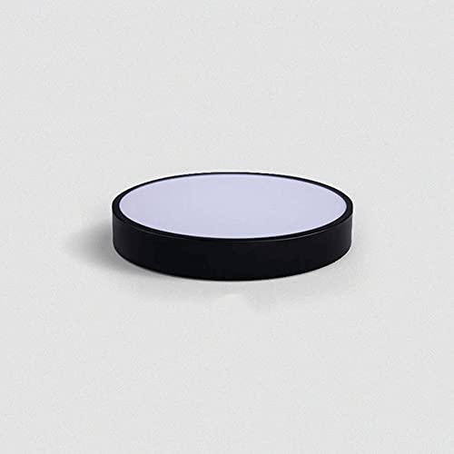 LXIANG Lámpara de techo interior con atenuación de tres colores Lámpara redonda moderna minimalista Iluminación de la habitación del estudiante Personalidad creativa Equipo de iluminación de la habita