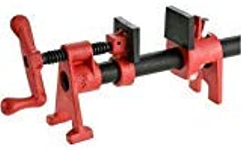 Bessey BPC-H34 3/4-Inch H Style Pipe Clamp, red-pack of 2