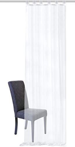 SCHMIDTGARD STOFFE - Tenda con passanti, 140 x 245 cm, colore: Bianco