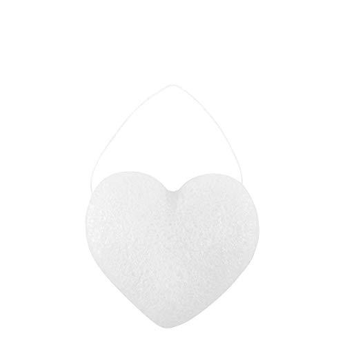 MATHILDE M. - Éponge douche 100 % naturelle en racine de Konjac - Forme en cœur