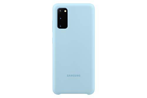 Samsung Silicone Smartphone Cover EF-PG980 für Galaxy S20 | S20 5G Handy-Hülle, Silikon, Schutz Hülle, stoßfest, dünn & griffig, blau - 6.2 Zoll