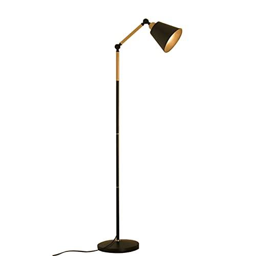 HQYXGS Lámpara De Pie Salon con Control Remoto, Luz De Lectura Dimmer Continuo 3 Temperaturas De Color Diseño Moderno Lámpara De Pie Bajo Consumo para Salón Estudio Dormitorio Oficina (Negro)