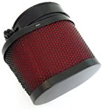 Black & Red Oval Air Filter - 50mm - Compatible with Honda CB350 CB360 CB450 CB500T