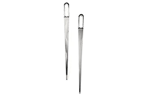 Long Drop Spear ottone placcato argento orecchini come indossato da Tyra Banks by Rellik Jewelry/Pinpoint