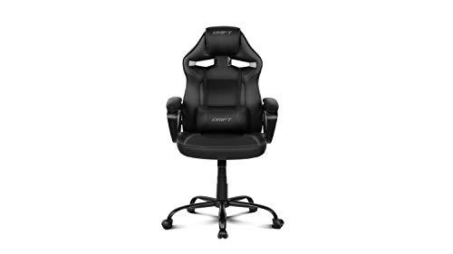 Drift DR50B - Silla Gaming Profesional, (Polipiel Alta Calidad, Ergonomica), Color Negro