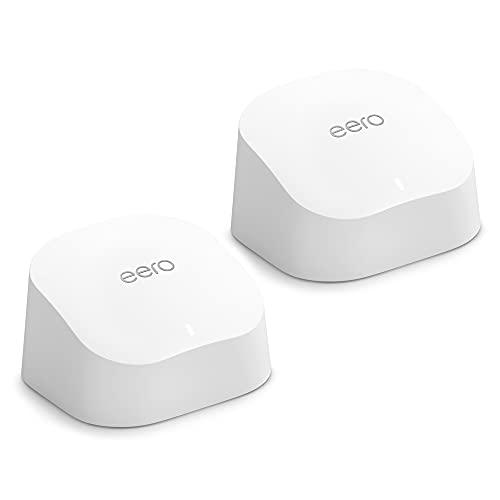 Nuevo | Sistema Wi-Fi 6 de malla de doble banda Amazon eero 6, con controlador de Hogar digital inteligente Zigbee integrado | 2 unidades