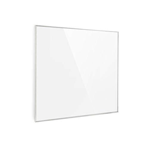 Klarstein Wonderwall Smart - Infrarot-Heizung - Wandheizung, Heizgerät, WiFi, Thermostat, Wochentimer, Abschaltfunktion, Allergiker-geeignet, weiß, 60x60cm, 360W