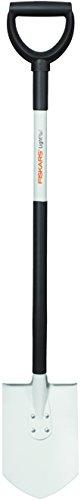 Fiskars Gärtnerspaten für weiche, lockere Böden, Spitz, Länge: 105 cm, Hochwertiges Stahl-Blatt/Aluminium-Stiel, Schwarz/Weiß, Light, 1019605