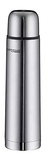 ThermoCafé Thermosflasche Edelstahl Everyday, Edelstahl mattiert 700ml, Isolierflasche 4058.205.075 auslaufsicher, Thermoskanne mit Becher hät 12 Stunden heiß, 24 Stunden kalt, BPA-Free