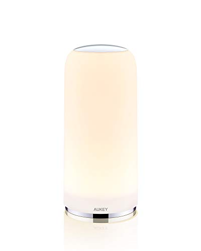 AUKEY Bedside Lamp Touch-Sensitive Table Lamp with Dimmable Warm White Light and Lighting Memory Function Night Light for Bedrooms and...