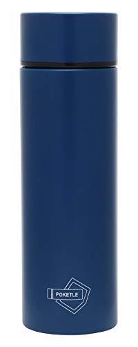 POKETLE ポケトル ボトル ステンレス製マグボトル ミニボトル スリムボトル 水筒 120mL (ネイビー, ボトル単品)